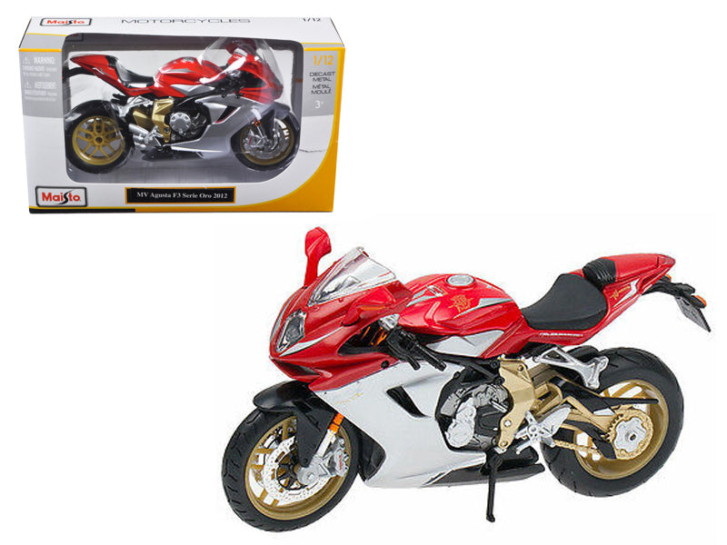 2012 MV Agusta F3 Serie Oro Red Bike Motorcycle 1/12 Diecast Model by Maisto - BeTovi&co