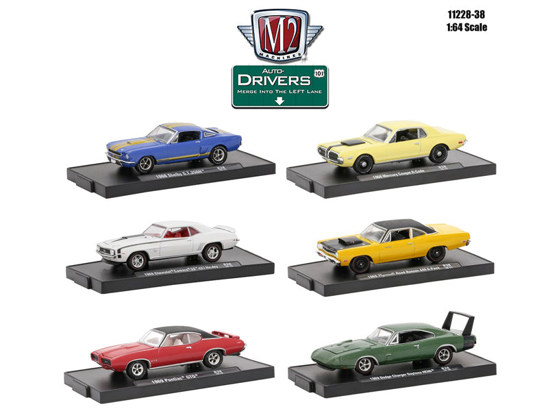 Drivers 6 Cars Set Release 38 In Blister Pack 1/64 Diecast Model Cars by M2 Machines - BeTovi&co