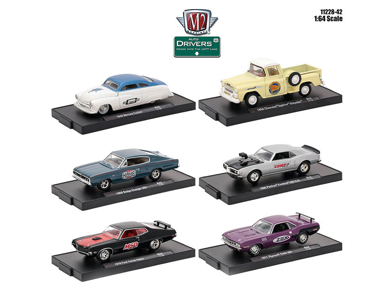 Drivers 6 Cars Set Release 42 In Blister Packs 1/64 Diecast Model Cars by M2 Machines - BeTovi&co