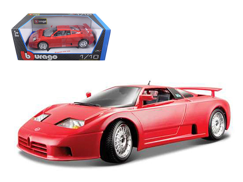 Bugatti EB 110 Red 1/18 Diecast Model Car by Bburago - BeTovi&co