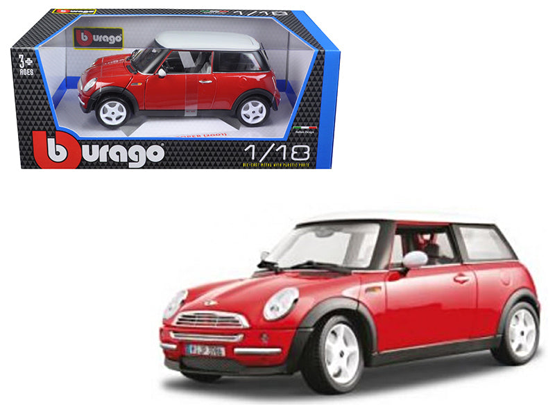 2001 Mini Cooper Red 1/18 Diecast Model Car by Bburago - BeTovi&co