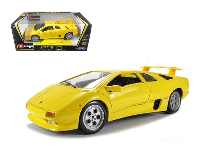 Lamborghini Diablo Yellow Car 1/18 Diecast Model Car by Bburago - BeTovi&co