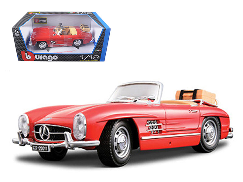 1957 Mercedes 300SL Touring Convertible Red 1/18 Diecast Model Car by Bburago - BeTovi&co