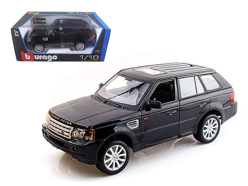 Range Rover Sport Black 1/18 Diecast Car Model by Bburago - BeTovi&co