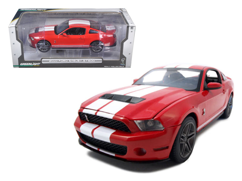 2010 Ford Shelby Mustang GT500 Torch Red 1/18 Diecast Car Model by Greenlight - BeTovi&co