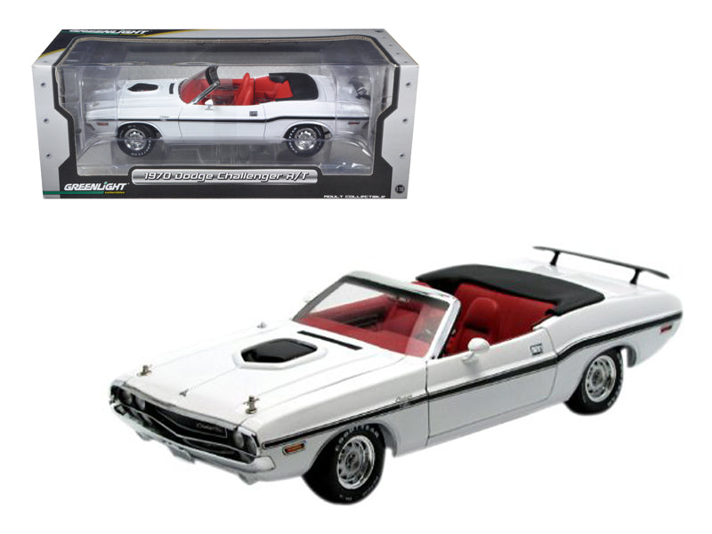 1970 Dodge Challenger R/T Convertible White 1/18 Diecast Car Model by Greenlight - BeTovi&co