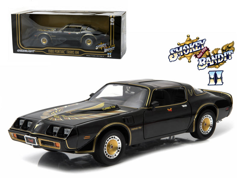 "1980 Pontiac Trans Am Turbo 4.9L \Smokey And The Bandit 2"" Movie Car 1/18 Diecast Model by Greenlight"" - BeTovi&co"