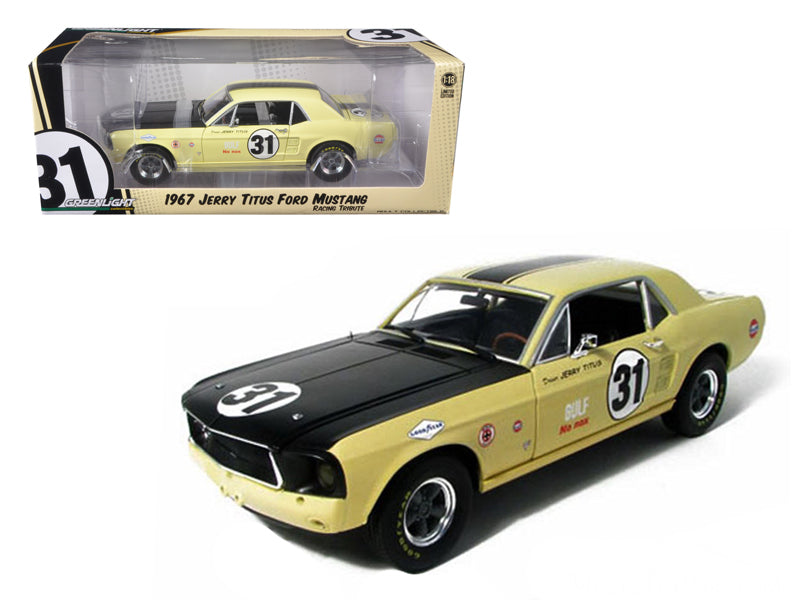 1967 Ford Mustang T/A #31 Jerry Titus Racing Tribute Edition 1/18 Diecast Car Model by Greenlight - BeTovi&co