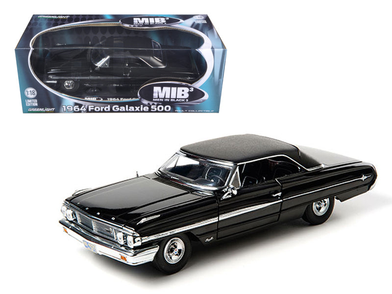 1964 Ford Galaxie 500 Black From MIB 'Men In Black 3' Movie Limited Edition 1/18 Diecast Model Car by Greenlight - BeTovi&co