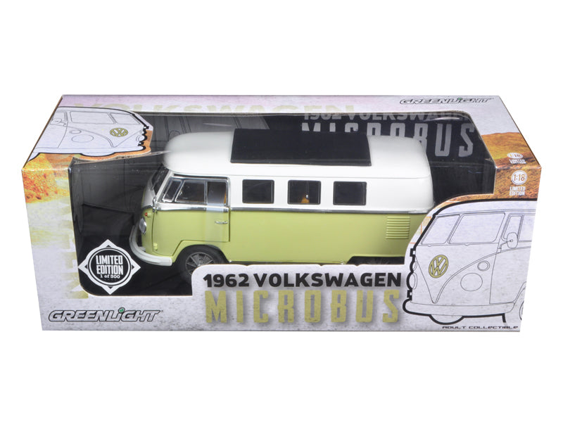 1962 Volkswagen Microbus Olive Green Limited to 300pc 1/18 Diecast Model Car by Greenlight - BeTovi&co