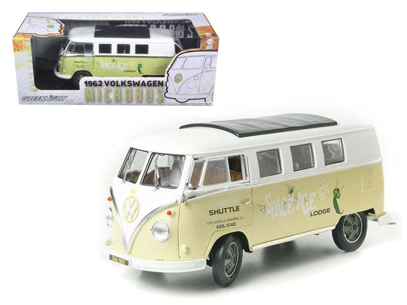"1962 Volkswagen Microbus \Space Age Lodge"" Cream 1/18 Diecast Model Car by Greenlight"" - BeTovi&co"