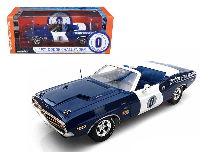 1971 Dodge Challenger Convertible Ontario Speedway Pace Car Limited to 1500pc 1/18 Diecast Model Car by Greenlight - BeTovi&co