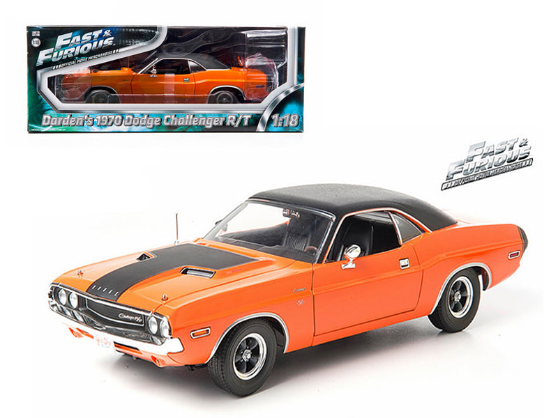 "1970 Darden - BeTovi&cos Dodge Challenger R/T Orange \Fast & Furious"" Movie 1/18 Diecast Model Car by Greenlight"" - BeTovi&co"