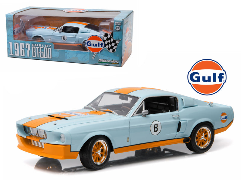 1967 Ford Shelby Mustang GT-500 'Gulf' Oil 1/18 Diecast Model Car by Greenlight - BeTovi&co
