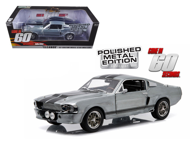 1967 Ford Mustang 'Eleanor' Gone in 60 Seconds Movie (2000) Polished Metal Limited Edition 1/18 Diecast Model Car by Greenlight - BeTovi&co
