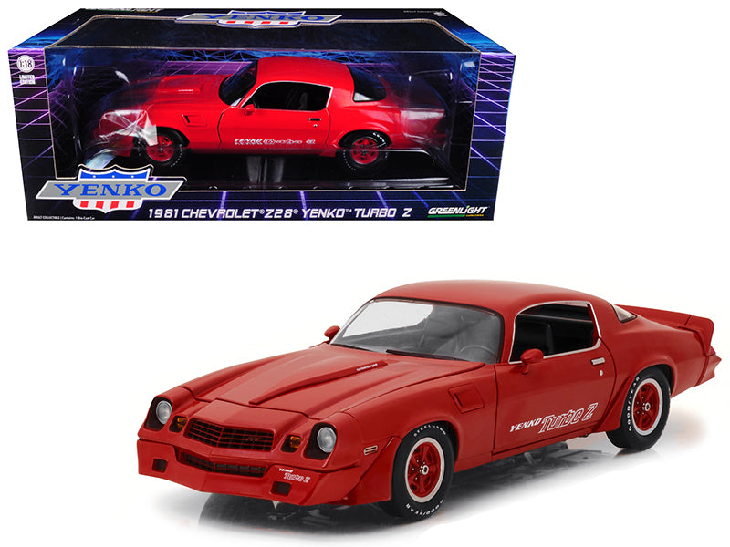 1981 Chevrolet Camaro Z/28 Yenko Turbo Z Red 1/18
