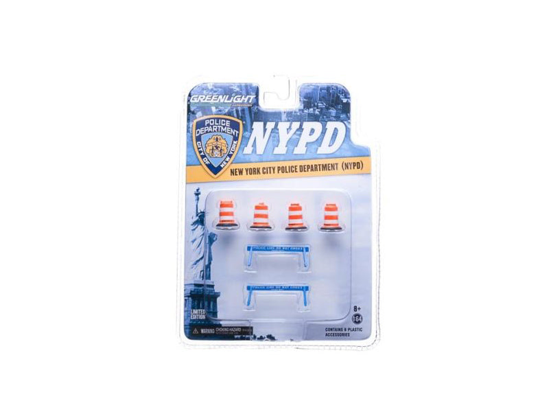 NYPD Accessory Pack 6pc Set Series 1 For 1/64 Model Cars by Greenlight - BeTovi&co