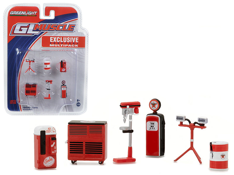 Greenlight Muscle 6pc Set Shop Tools Texaco 1/64 by Greenlight - BeTovi&co