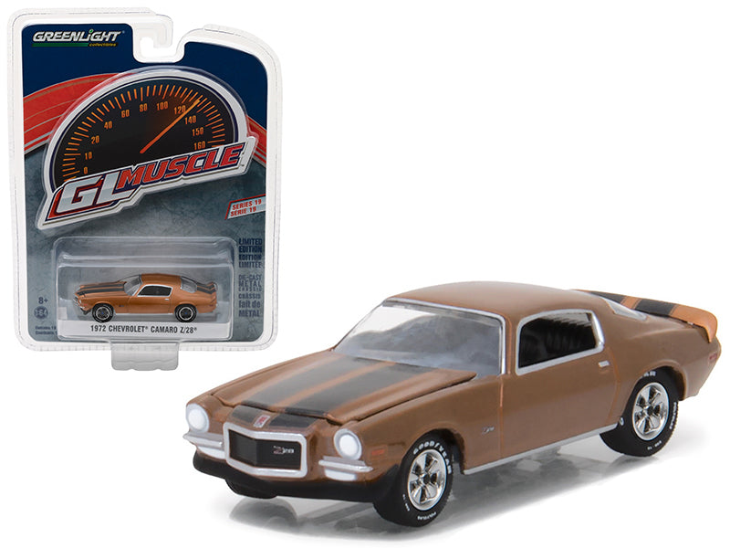 1972 Chevrolet Camaro Z/28 Mojave Gold Greenlight Muscle Series 19 1/64 Diecast Model Car by Greenlight - BeTovi&co
