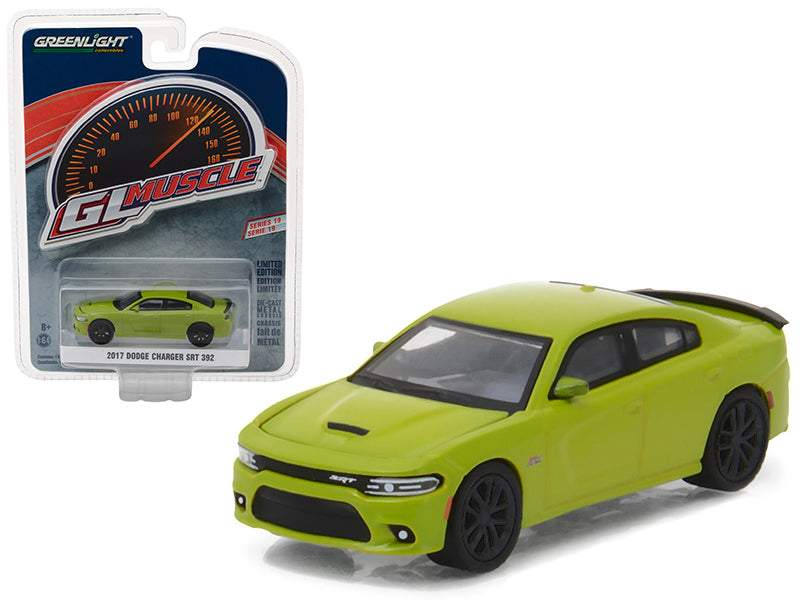 2017 Dodge Charger SRT 392 Green Go Greenlight Muscle Series 19 1/64 Diecast Model Car by Greenlight - BeTovi&co
