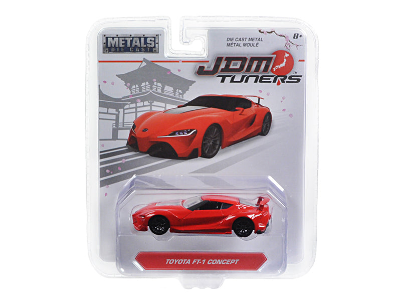 Toyota FT-1 Concept Red 'JDM Tuners' 1/64 Diecast Model Car by Jada - BeTovi&co