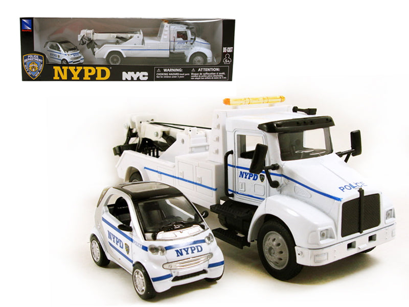Ford Wrecker Tow Truck NYPD & Smart For Two Set 1/43 by New Ray - BeTovi&co