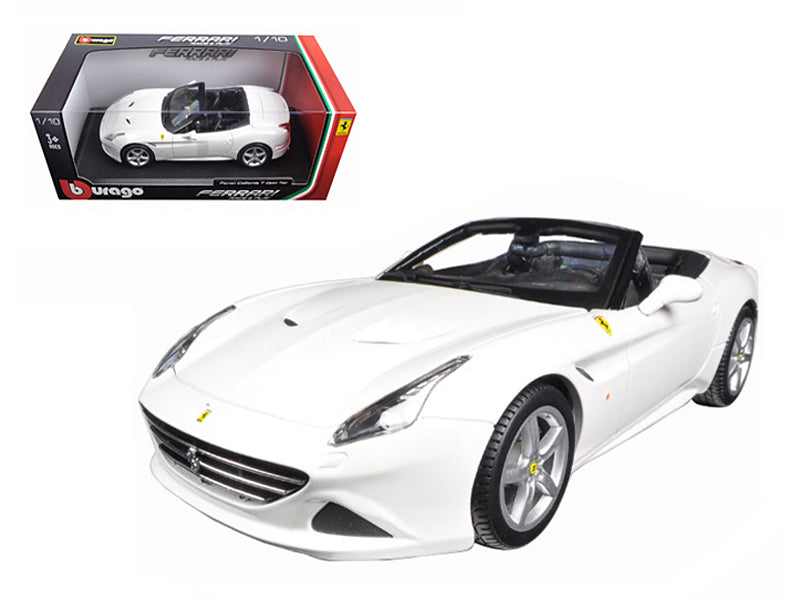 Ferrari California T (open top) White 1/18 Diecast Model Car by Bburago - BeTovi&co