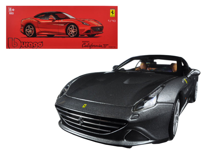 Ferrari California T Closed Top Metallic Grey Signature Series 1/18 Diecast Model Car by Bburago - BeTovi&co