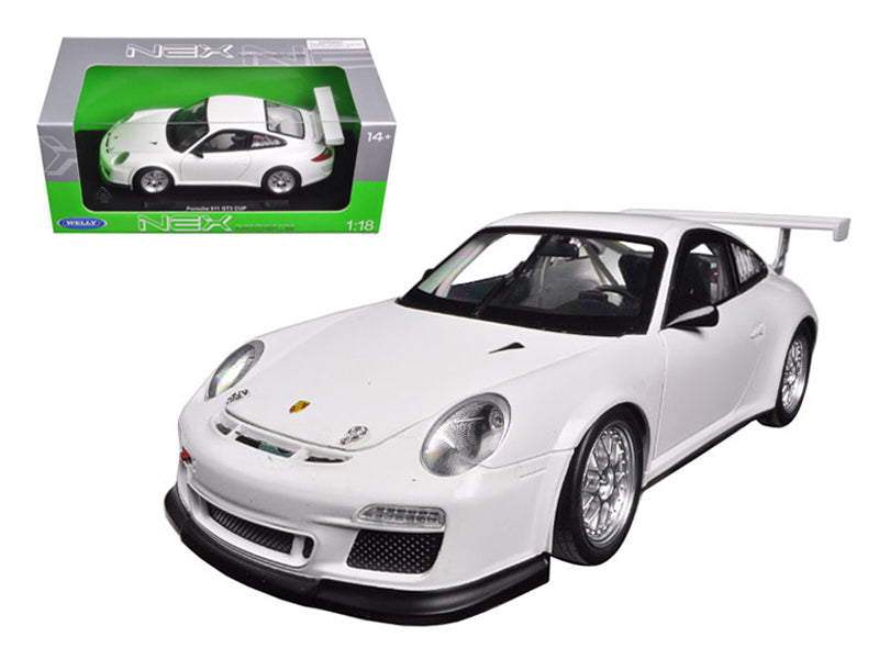 Porsche 911 GT3 CUP White 1/18 Diecast Model Car by Welly - BeTovi&co