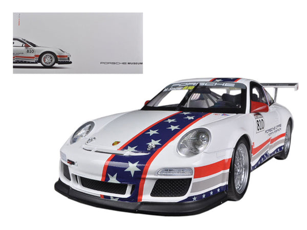 Porsche North America Team 911 GT3 CUP USA # 810 Museum Collection 1/18 Diecast Car Model by Welly - BeTovi&co