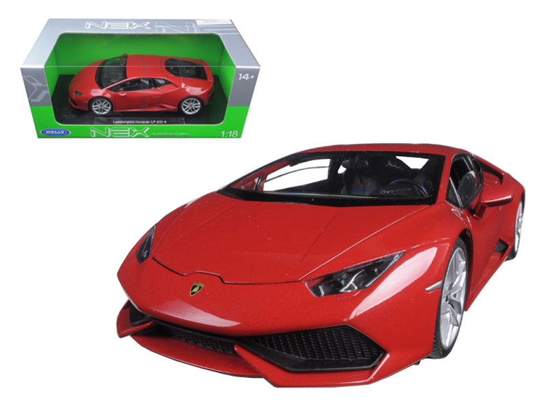 Lamborghini Huracan LP 610-4 Red 1/18 Diecast Model Car by Welly - BeTovi&co
