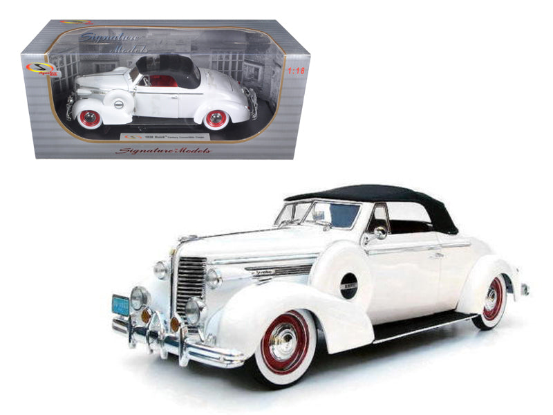 1938 Buick Century White 1/18 Diecast Car Model by Signature Models - BeTovi&co