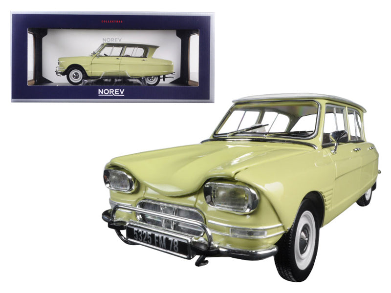 1964 Citroen Ami 6 Naples Yellow 1/18 Diecast Model Car by Norev - BeTovi&co