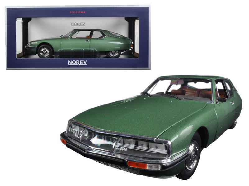 1971 Citroen SM Green Metallic 1/18 Diecast Model Car by Norev - BeTovi&co