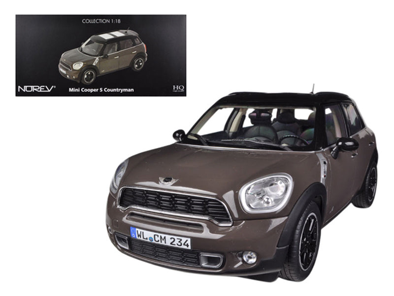 2010 Mini Cooper S Countryman Brown 1/18 Diecast Car Model by Norev - BeTovi&co