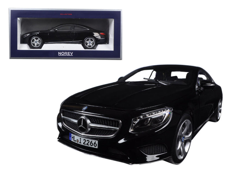 2014 Mercedes S Class Coupe Black 1/18 Diecast Model Car by Norev - BeTovi&co