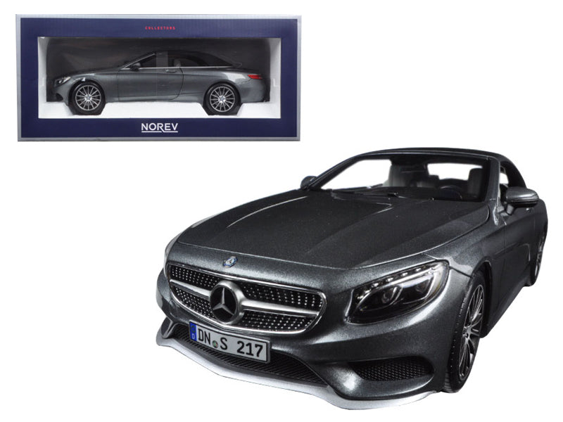 2015 Mercedes S Class Convertible Grey Metallic 1/18 Diecast Model Car by Norev - BeTovi&co
