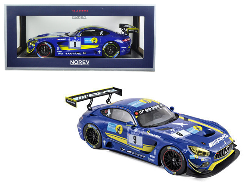 Mercedes AMG GT3 2016 #9 Team Black Falcon  1/18 Diecast Model Car  by Norev - BeTovi&co