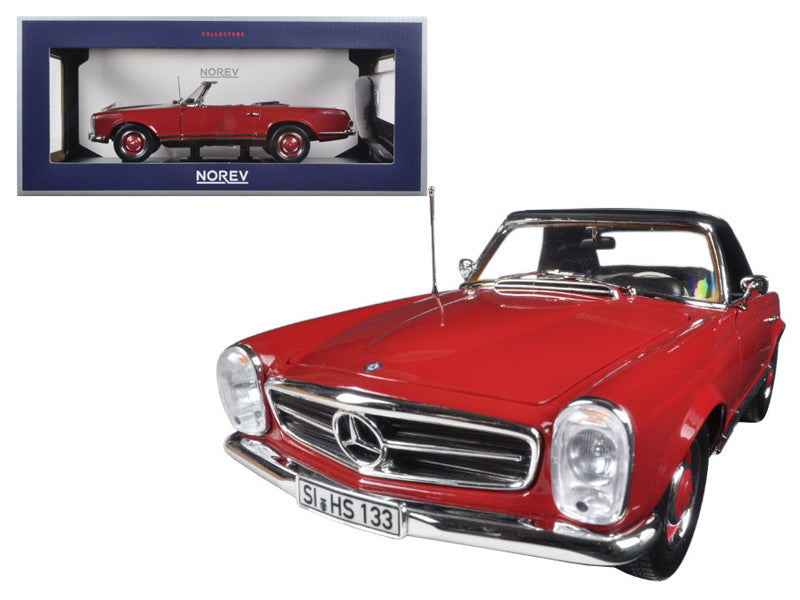 1969 Mercedes 280 SL Red 1/18 Diecast Model Car by Norev - BeTovi&co