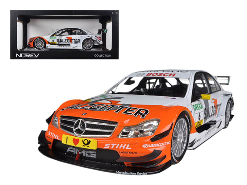 Mercedes C Class DTM 2011 #6 Salzgitter AMG / Schumacher 1/18 Diecast Car Model by Norev - BeTovi&co