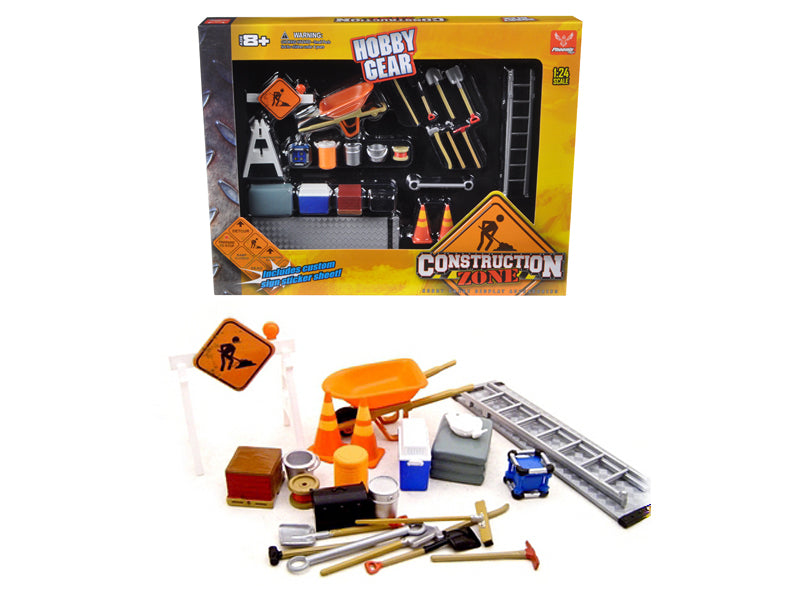 Construction Accessories Set For 1/24 Diecast Car Models by Phoenix Toys - BeTovi&co