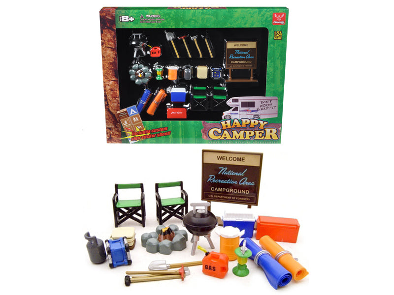 Camper Accessories Set For 1/24 Diecast Car Models by Phoenix Toys - BeTovi&co