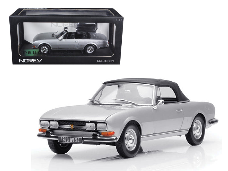 1971 Peugeot 504 Cabriolet Grey 1/18 Diecast Car Model by Norev - BeTovi&co