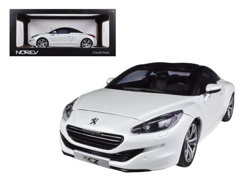 2012 Peugeot RCZ Pearl White 1/18 Diecast Car Model by Norev - BeTovi&co