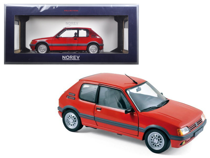 1988 Peugeot 205 Gti 1.6 Vallelunga Red 1/18 Diecast Model Car by Norev - BeTovi&co