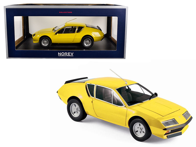 1977 Renault Alpine A310 Yellow 1/18 Diecast Model Car by Norev - BeTovi&co