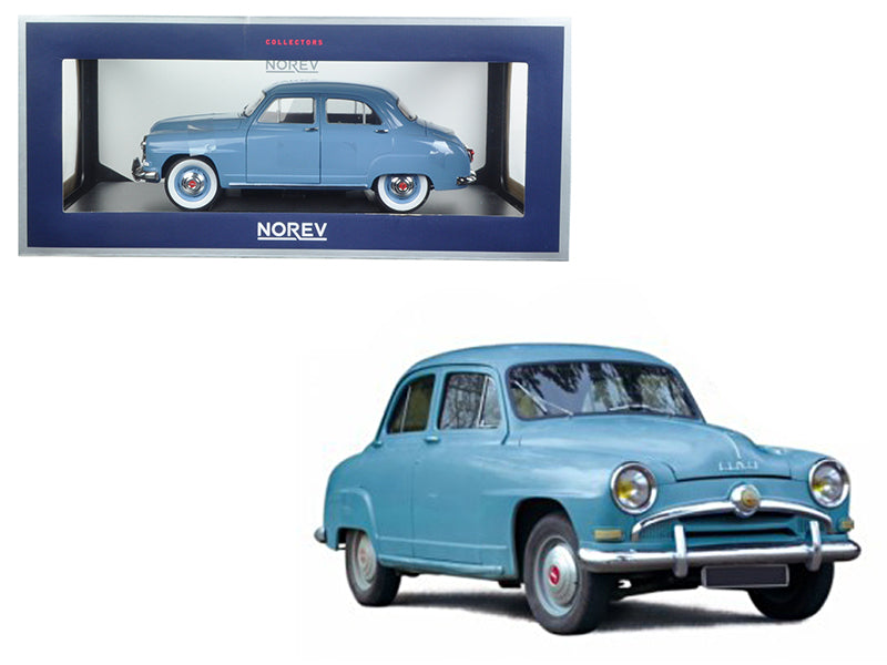 1954 Simca Aronde Light Blue 1/18 Diecast Model Car by Norev - BeTovi&co