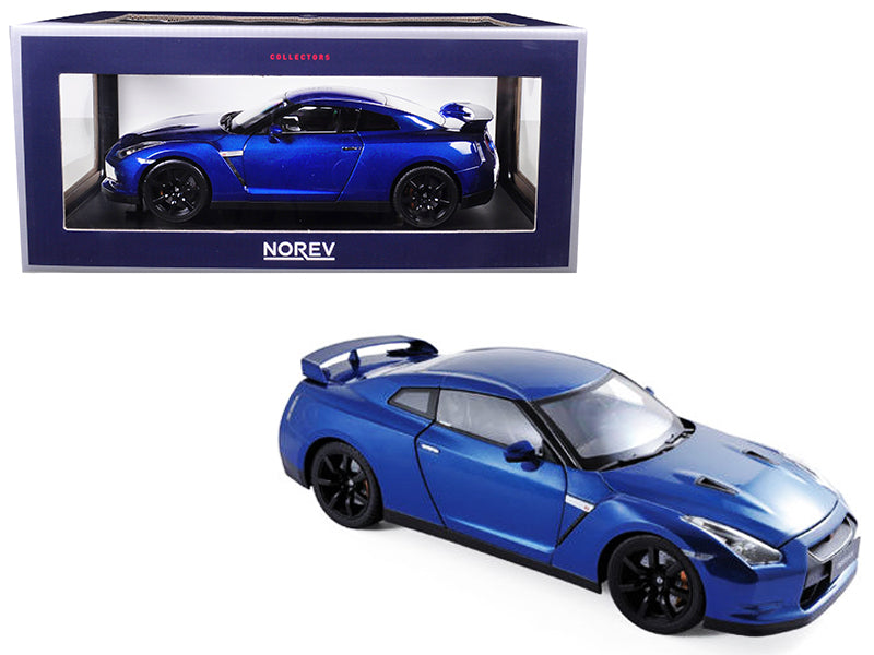 2008 Nissan GTR R-35 Blue 1/18 Diecast Model Car by Norev - BeTovi&co