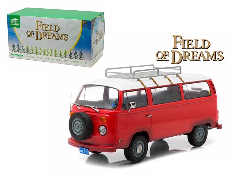 1973 Volkswagen Type 2 Bus (T2B) 'Filed of Dreams' Movie (1989) 1/18 Diecast Model by Greenlight - BeTovi&co
