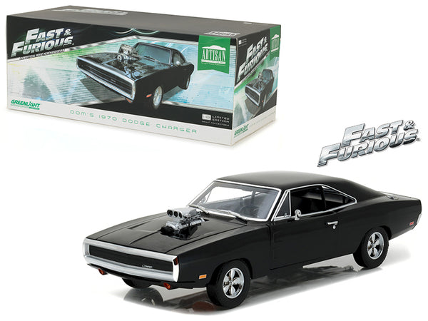 Dom - BeTovi&cos 1970 Dodge Charger 'The Fast and the Furious' (2001) Movie Artisan Collection 1/18 Diecast Model Car by Greenlight - BeTovi&co